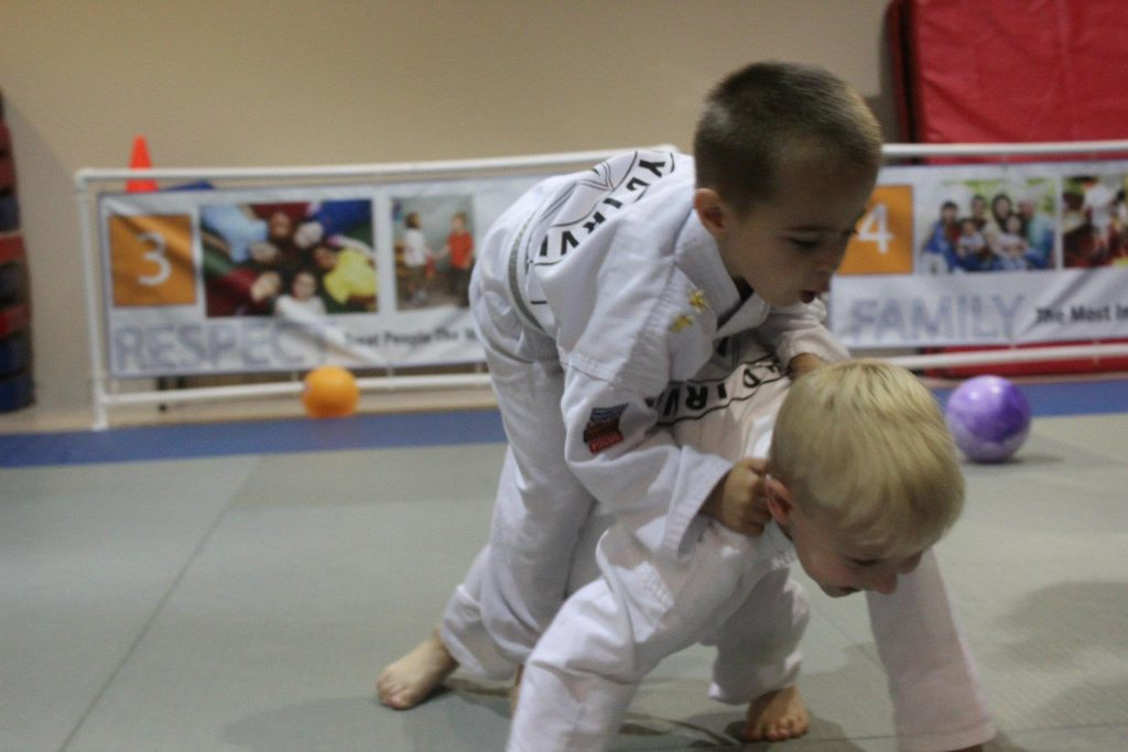 Tiny Ninjas doing BJJ Grappling in Naples, FL