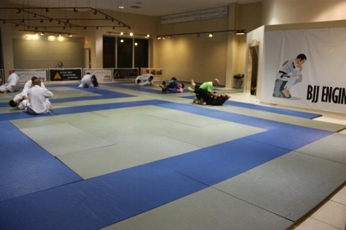 Third Law BJJ & MMA New School Main Training Room. Come check it out at 5707 Shirley Street in Naples, Florida. Call us today for a free orientation class 239-628-3529