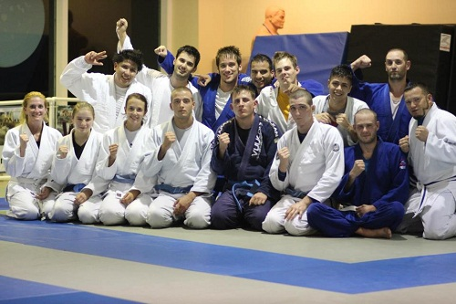 Team Third Law naples jiu jitsu celebrates the newly promoted blue belt, Jullian Rives.