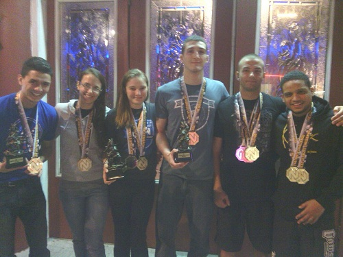 Team Third Law  naples jiu jitsu competitors with their earned medals after the New Breed competition.